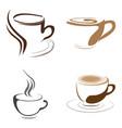 set of coffee logos vector image