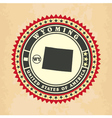 Vintage label-sticker cards of Wyoming vector image