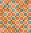 vintage yellow star seamless pattern vector image