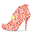 shoes mosaic vector image vector image
