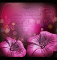 congratulatory background with flowers vector image vector image