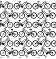 Bicycle pattern design vector image