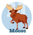 abc cartoon moose vector image