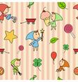 children fairy pattern vector image