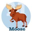 abc cartoon moose vector image