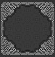 black and white frame vector image