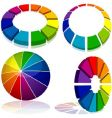 Colored geometry vector image