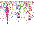 Confetti decoration colorful 1 vector image
