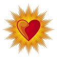 Heart shining vector image
