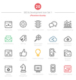 Set of Bold Stroke SEO and Development icons Set 1 vector image