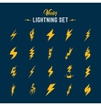 Unusual Abstract Lightning or Blizzard Flat vector image