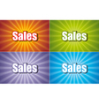 Sales Four Colors vector image