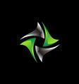 circle 3D shape spin technology logo vector image