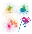 Set of 4 isolated colorful gradient rainbow grunge vector image