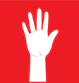 hand background vector image