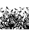 birds sit on a tree vector image vector image