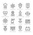 Set line icons of house systems vector image