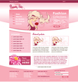 beauty site template vector image