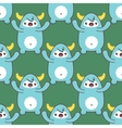 Cartoon yeti seamless pattern vector image