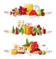 Christmas borders vector image