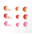 collection of various smears lip gloss vector image