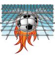 flaming goal vector image