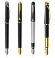 Fountain pen set vector image