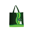 green purse with people icon color vector image