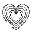 heart love romantic feeling decoration line vector image