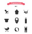 Pregnancy icons vector image