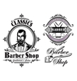 set of emblems on a theme barber shop vector image