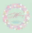 sweet in memory with rose wreath vector image