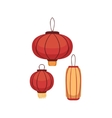 Paper Lanterns Japanese Culture Symbol vector image