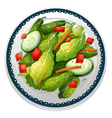 salad and a dish vector image vector image
