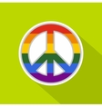 LGBT peace sign icon flat style vector image