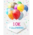 Milestone 10000 Followers Background with vector image vector image