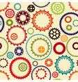 Gear wheels pattern vector image vector image