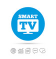widescreen smart tv sign icon television set vector image