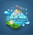 songkran festival of thailand logo design vector image