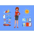 Smiling business woman of cartoon boss manager vector image vector image