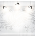 Empty Storefront with Floral Seamless Background vector image