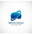 Virtual Reality Universe Abstract Icon vector image