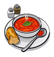 hot tomato soup vector image