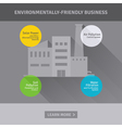 Concept of environmentally-friendly business vector image