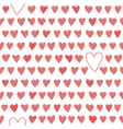 Cute seamless pattern with red hearts vector image
