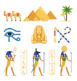 egypt set egyptian ancient symbols of the power vector image
