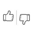 Like dislike vector image
