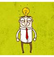 Man with a Bright Idea Cartoon vector image