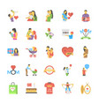 parents day flat icons set vector image