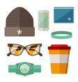 urban active lifestyle accessories vector image